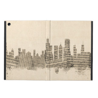 Chicago Illinois Skyline Sheet Music Cityscape iPad Air Cover