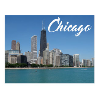 Chicago Illinois Skyline, USA Postcard