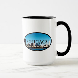 Chicago, Illinois Skyline with Dallas in the Sky Mug