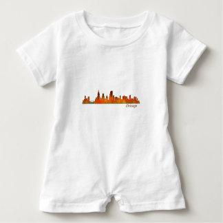 Chicago Illinois U.S. City skyline v01 Baby Romper