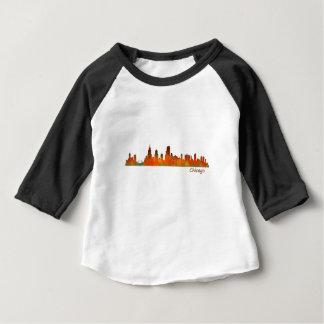 Chicago Illinois U.S. City skyline v01 Baby T-Shirt