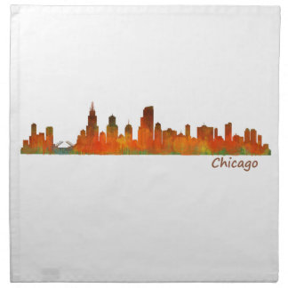 Chicago Illinois U.S. City skyline v01 Napkin