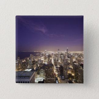 Chicago, Illinois, USA 7 2 Inch Square Button