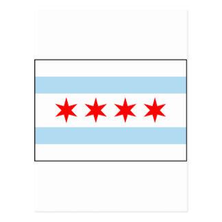 Chicago, Illinois USA Flag Postcard