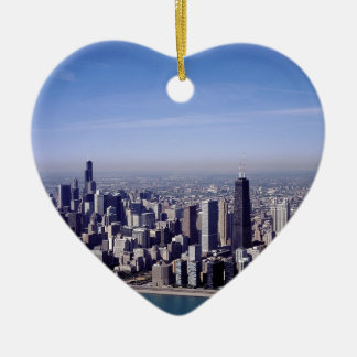 Chicago Illinois Windy City Park Buildings Destiny Ceramic Ornament