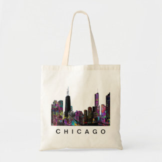 Chicago in graffiti tote bag
