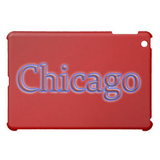 Chicago in Red and Blue - On Red iPad Mini Case