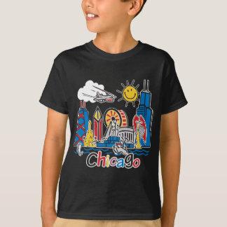 Chicago Kids Cute Skyline design T-Shirt