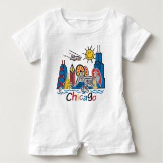 Chicago Kids Dark Baby Romper