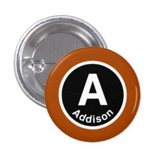 Chicago L Addison Brown Line 1 Inch Round Button