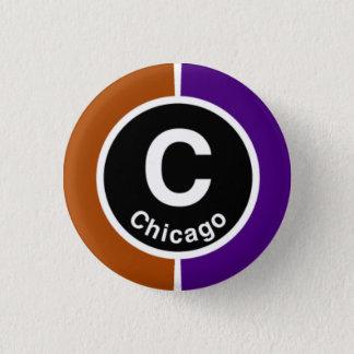 Chicago L Chicago Brown/Purple Line 1 Inch Round Button
