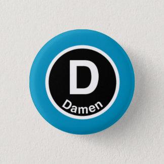 Chicago L Damen Blue Line 1 Inch Round Button