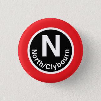 Chicago L North/Clybourn Red Line 1 Inch Round Button