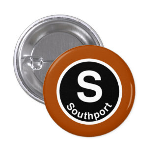 Chicago L Southport Brown Line 1 Inch Round Button