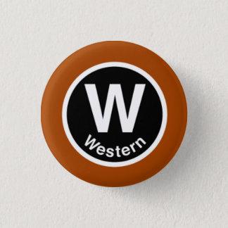 Chicago L Western Brown Line 1 Inch Round Button