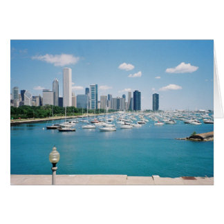 Chicago Lakefront Skyline Card