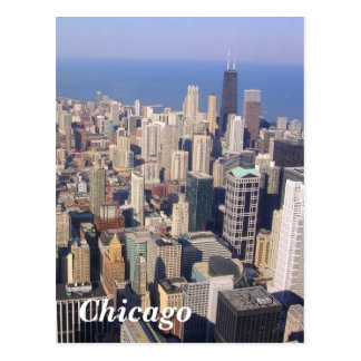 Chicago landscape postcard