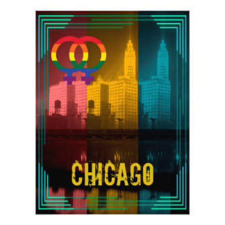 Chicago Lesbian Interest Colorful Pride Gay Photo Print