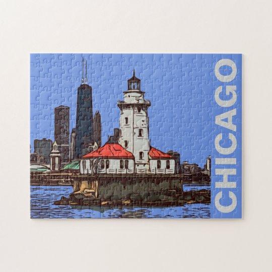 CHICAGO LIGHTHOUSE JIGSAW PUZZLE