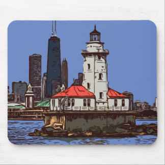 CHICAGO LIGHTHOUSE MOUSE PAD