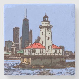 CHICAGO LIGHTHOUSE STONE COASTER