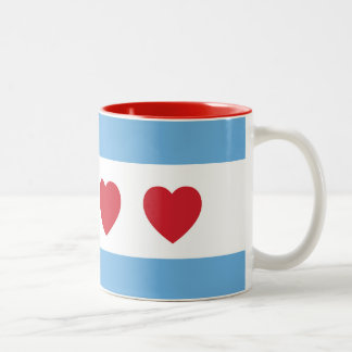 Chicago Love 11 oz Two-Tone Mug