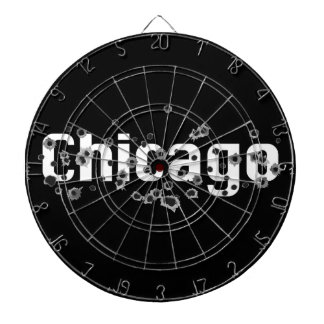 Chicago Mafia History Boss Gunshots Holes Sign Dartboard