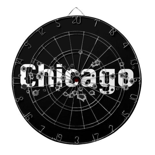Chicago Mafia History Boss Gunshots Holes Sign Dartboards