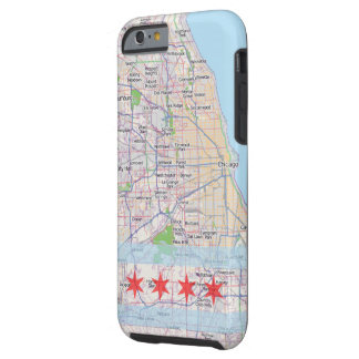 Chicago Map Flag Tough iPhone 6 Case