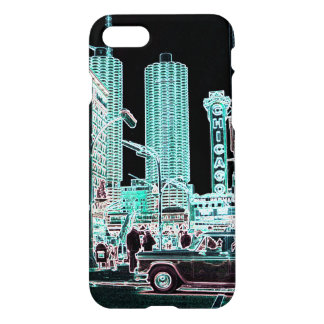 Chicago Marina City 1963 State Street Neon iPhone 8/7 Case
