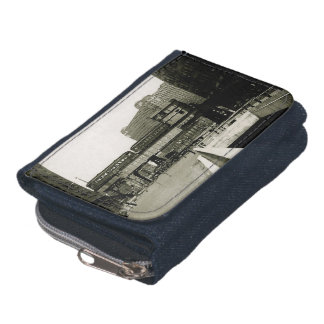 CHICAGO MERCHANDISE MART TROLLEY TRAIN WATERCOLOR WALLET