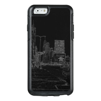 Chicago Michigan Avenue 1960's Glowing Edges Black OtterBox iPhone 6/6s Case