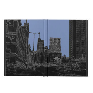 Chicago Michigan Avenue 1960's Glowing Edges Black Powis iPad Air 2 Case