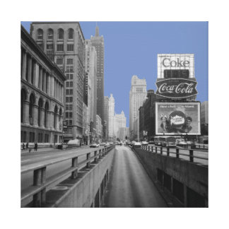 Chicago Michigan Avenue 1967 Street Scene Canvas Print