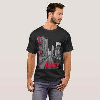 Chicago Michigan Avenue 1967 Street Scene T-Shirt