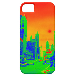 Chicago Michigan Avenue @ Night 1967 Neon Colorful Case For The iPhone 5