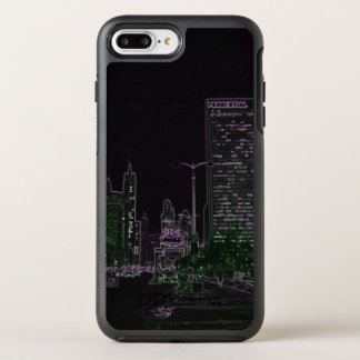 Chicago Michigan Avenue @ Night 1967 Neon Colorful OtterBox Symmetry iPhone 7 Plus Case