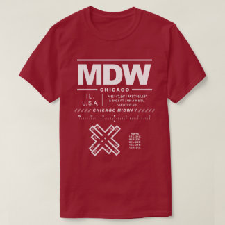 Chicago Midway International Airport MDW T-Shirt
