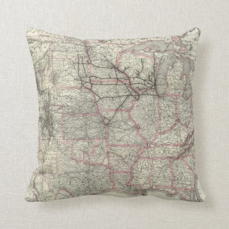 Chicago Milwaukee and St Paul Ry and connections Throw Pillow