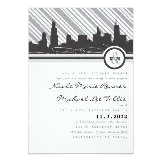 Chicago Monogram Wedding Invitation