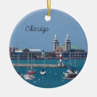 Chicago Navy Pier Ceramic Ornament