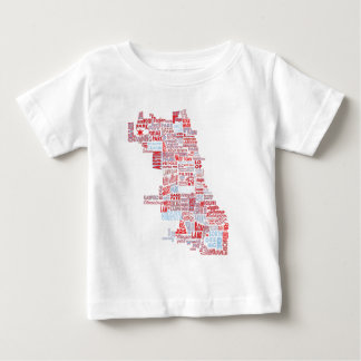 Chicago Neighborhood Map Baby T-Shirt
