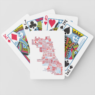 Chicago Neighborhood Map Bicycle Playing Cards