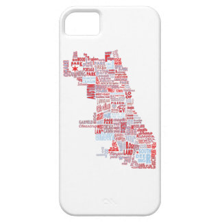 Chicago Neighborhood Map Case For The iPhone 5