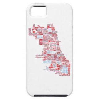 Chicago Neighborhood Map iPhone 5 Case