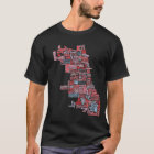 Chicago Neighbourhood Map T-Shirt