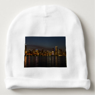 Chicago Night Cityscape Baby Beanie