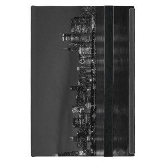 Chicago Night Cityscape Grayscale iPad Mini Cases