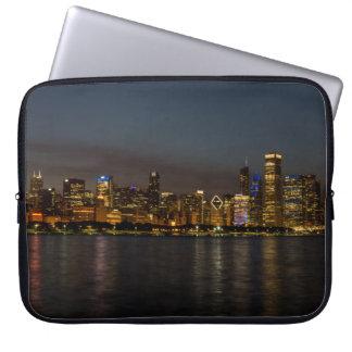 Chicago Night Cityscape Laptop Sleeve