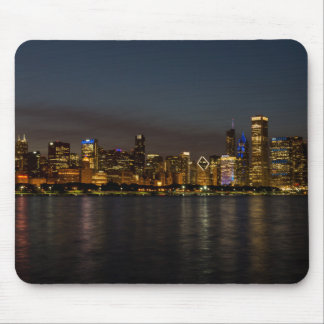 Chicago Night Cityscape Mouse Pad